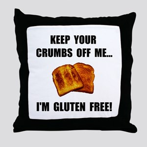 Crumbs Off Me Gluten Free Throw Pillow