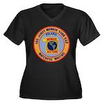 USS JAMES MO Women's Plus Size V-Neck Dark T-Shirt