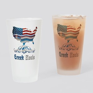 American Greek Roots Drinking Glass