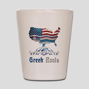 American Greek Roots Shot Glass