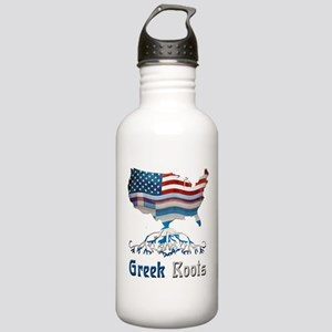 American Greek Roots Stainless Water Bottle 1.0L