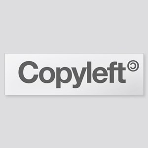 Copyleft (bumper) Bumper Sticker