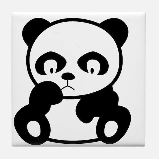 Sad Panda Tile Coaster