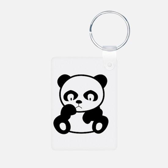 Sad Panda Keychains