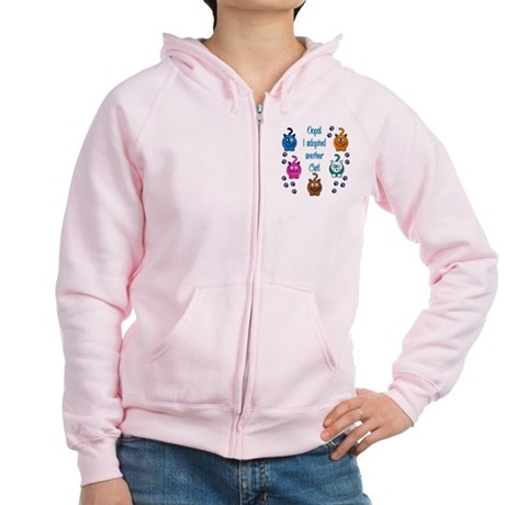 Oops! I Adopted Another Cat! Women's Zip Hoodie