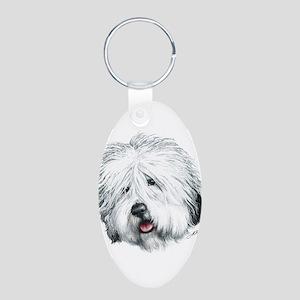 Sweet Sheepie Aluminum Oval Keychain