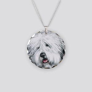 Sweet Sheepie Necklace Circle Charm
