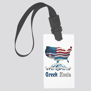 American Greek Roots Large Luggage Tag