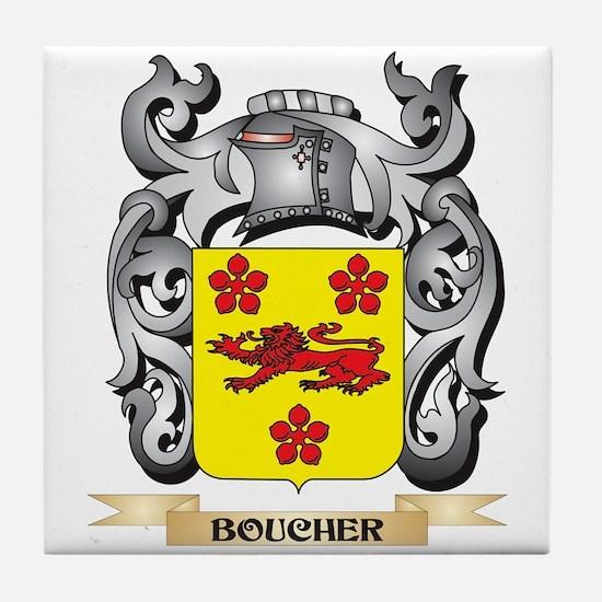 Boucher Family Crest - Boucher Coat o Tile Coaster