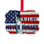 911 Never Forget Picture Ornament