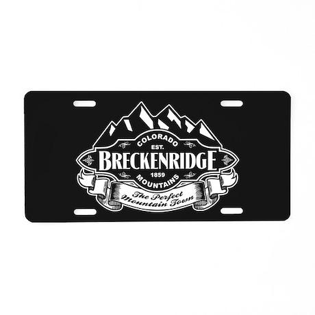Breckenridge Mountain Emblem Aluminum License Plat