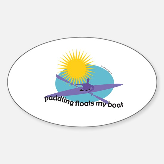 Cute Power boat Sticker (Oval)