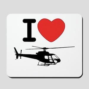 I Heart Helicopter Mousepad