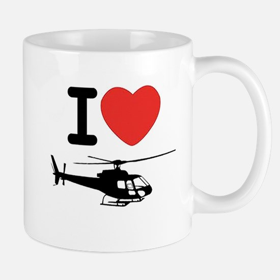 I Heart Helicopter Mug