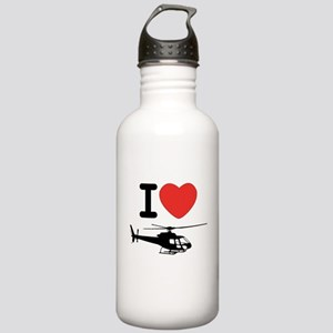 I Heart Helicopter Stainless Water Bottle 1.0L