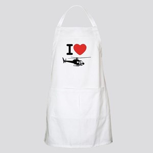 I Heart Helicopter Apron
