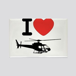 I Heart Helicopter Rectangle Magnet