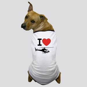 I Heart Helicopter Dog T-Shirt