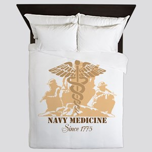 Navy Medicine Since 1775 Queen Duvet