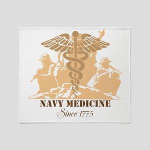 Navy Medicine Since 1775 Throw Blanket
