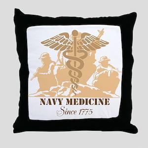 Navy Medicine Since 1775 Throw Pillow