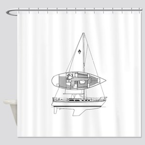 Catalina 34 Shower Curtain