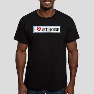 I 3 Jet Noise Men's Fitted T-Shirt (dark)