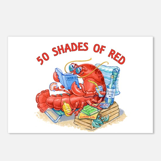 50 Shades of Red Postcards (Package of 8)
