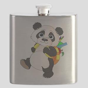 Panda bear with backpack Flask