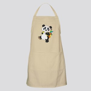 Panda bear with backpack Apron
