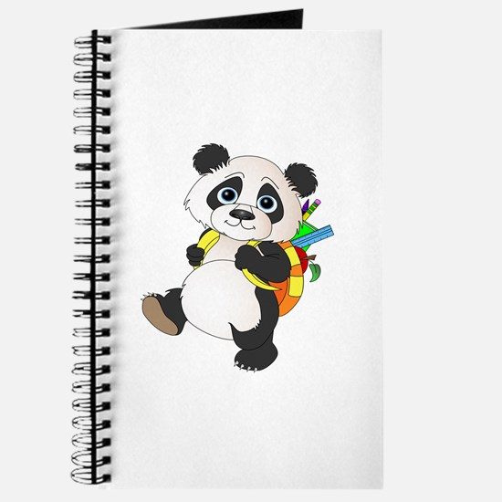 Panda bear with backpack Journal