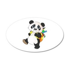 Panda bear with backpack Wall Decal