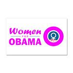Women for Obama Pink Car Magnet 20 x 12