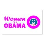 Women for Obama Pink Sticker (Rectangle)