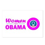 Women for Obama Pink Postcards (Package of 8)