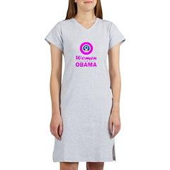 Women for Obama Pink Women's Nightshirt