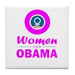 Women for Obama Pink Tile Coaster