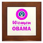 Women for Obama Pink Framed Tile