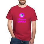 Women for Obama Pink Dark T-Shirt