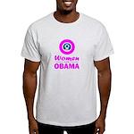 Women for Obama Pink Light T-Shirt