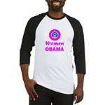 Women for Obama Pink Baseball Jersey