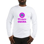 Women for Obama Pink Long Sleeve T-Shirt