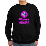 Women for Obama Pink Sweatshirt (dark)