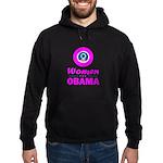 Women for Obama Pink Hoodie (dark)