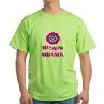Women for Obama Pink Green T-Shirt