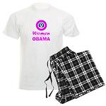 Women for Obama Pink Men's Light Pajamas