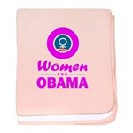 Women for Obama Pink baby blanket