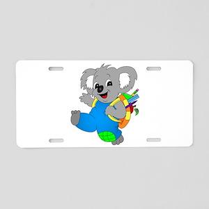 Koala Bear with backpack Aluminum License Plate