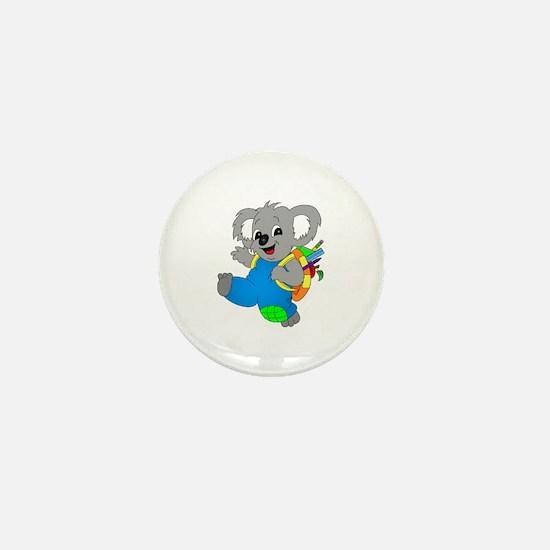 Koala Bear with backpack Mini Button