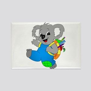 Koala Bear with backpack Rectangle Magnet